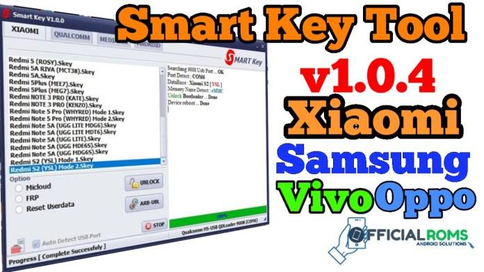Smart Key Tool v1.0.2 Free Tool  Vivo Oppo Samsung Redmi MTK
