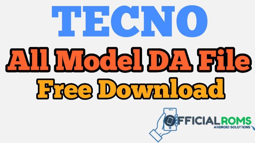 Download Tecno DA File Auth (MTK CPU) Frp Unlock