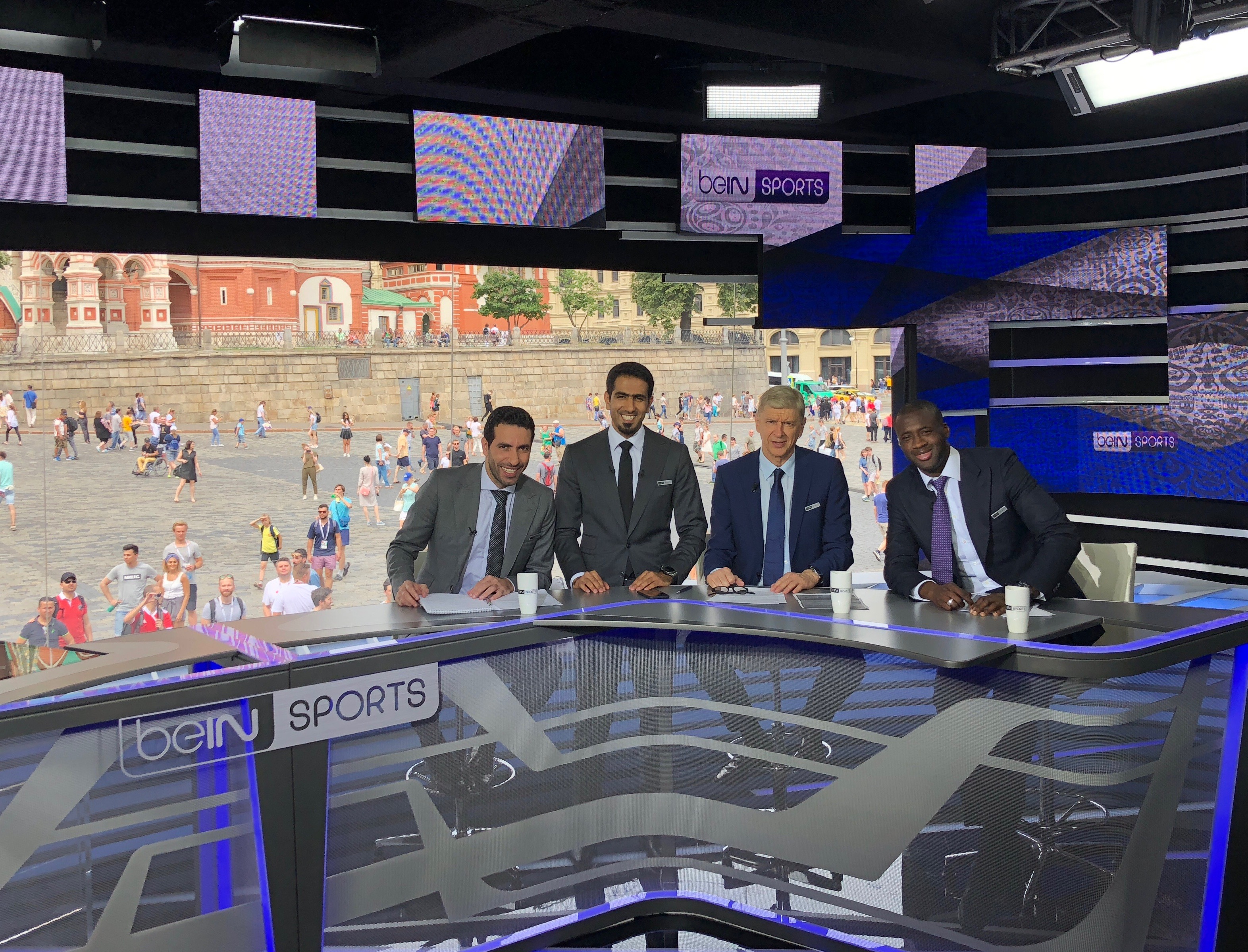 Yaya Toure Yaya Toure Enjoys Time With Bein Sports At World Cup