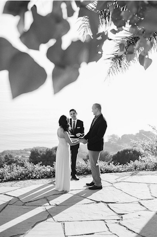 Beachcomber Bungalow Wedding Ceremony: Alecia + David: Officiant Eric