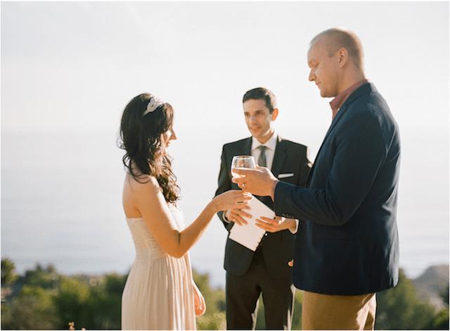 Beachcomber Bungalow Wedding Ceremony: Alecia + David: Officiant Eric