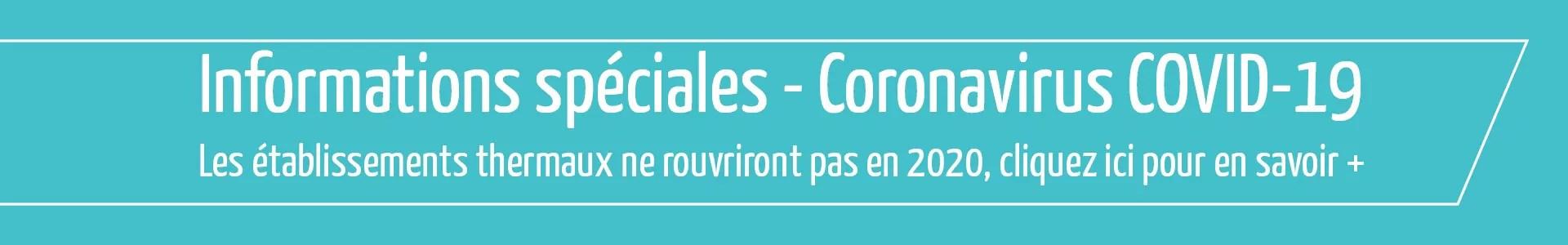 Fermeture des thermes en France en 2020
