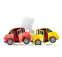 Un disegno di incidente tra due auto