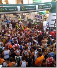 la partenza della Maratonina del Serpente Aureo 2010