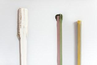 """Valeria Talamonti_ Senza titolo """"Partiture di un luogo immaginario"""" 2018, legno, ferro, fettuccia di cotone, 1 m x 3 x 3 cm 2"""