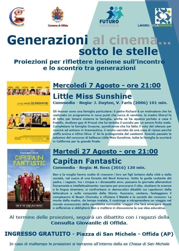 Cinema e generazioni: due appuntamenti della Fondazione Lavoroperlapersona | Offida.info