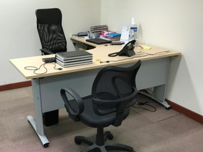 Comtel - L-shaped Director's Desk with Curvy Leg and Modesty Panel