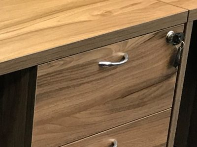 In-Style Creative Concepts - Cluster of 4 Workstation Central Lock Drawers