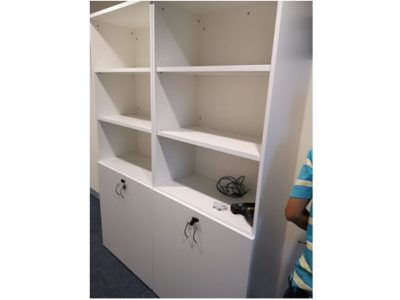 Tong Eng Building for Instyle Creative - Open Shelving with Swing Door Lower Cabinet