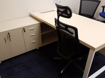 Verint - Executive Desk with BO Series Table Legs and Side Cabinet