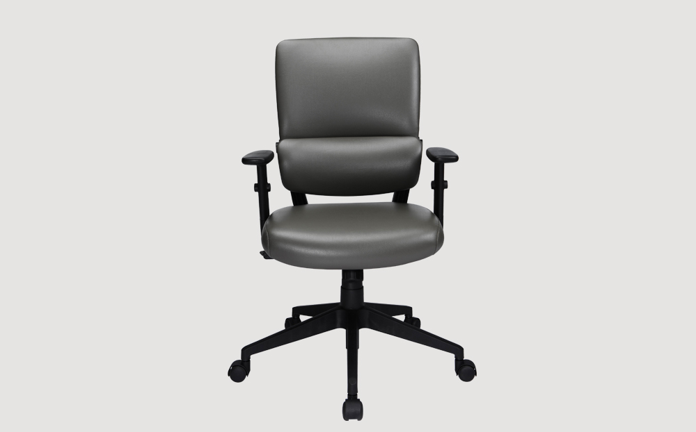 ergonomic mid back office chair black frame grey seat castor wheels
