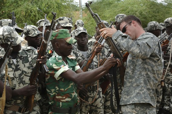 U.S. Special Forces train Mali army troops in 2007. Army photo.