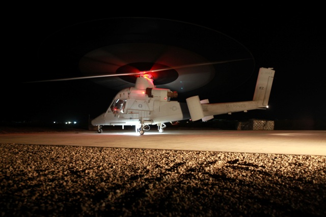 K-MAX in Afghanistan. NATO photo.