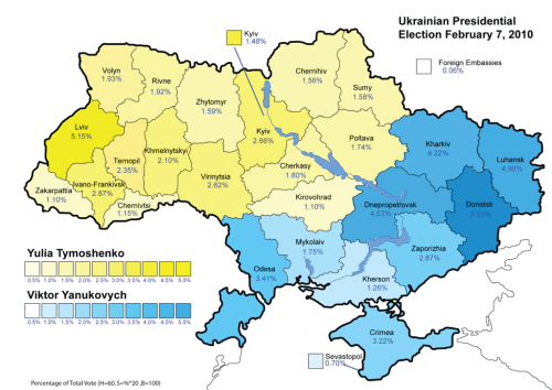 Ukraine 2010 election map