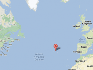 Location of the Azores.