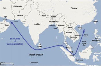 China's critical Sea Lines of Communication (SLOC)