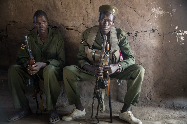 Rebels loyal to Riek Machar in Lankien, South Sudan, Jan 23, 2014 (Photo:  Jerome Starkey).
