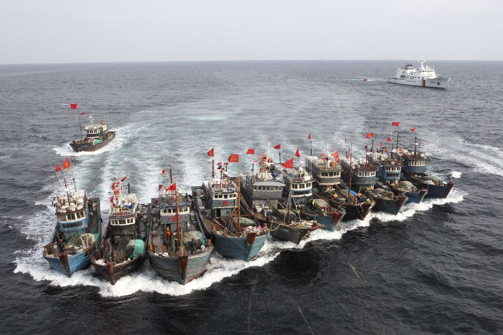 These Chinese Boats Were Captured By The South Korean Coast Guard For Alleged Illegal Fishing In South Korean Waters In November 2011 Photo Dong Ailbo