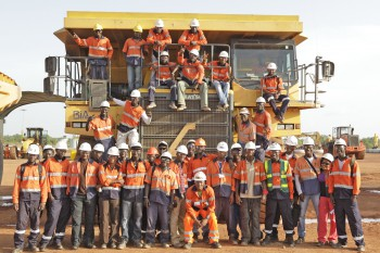 Some workers at Sabodala Gold Operations