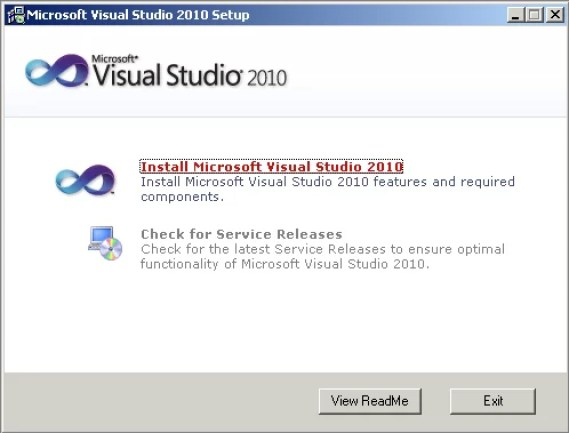 Windows 7 how to locate and install visual studio 2010 sp1.