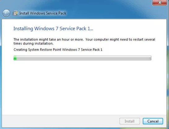 Download Windows 7 Service Pack 1 Offline Installer