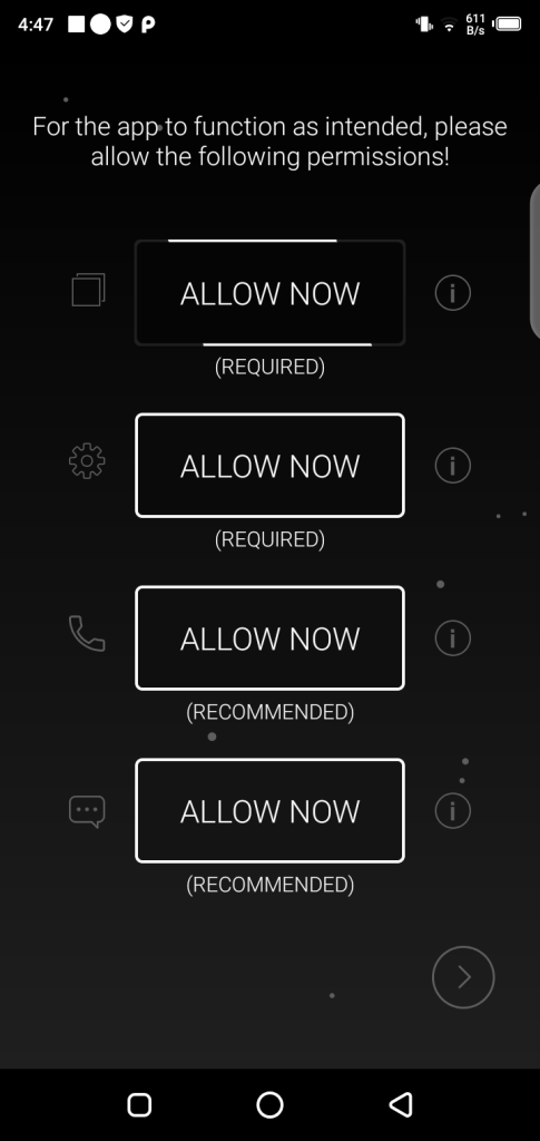 Screenshot of Always On Amoled Pro App