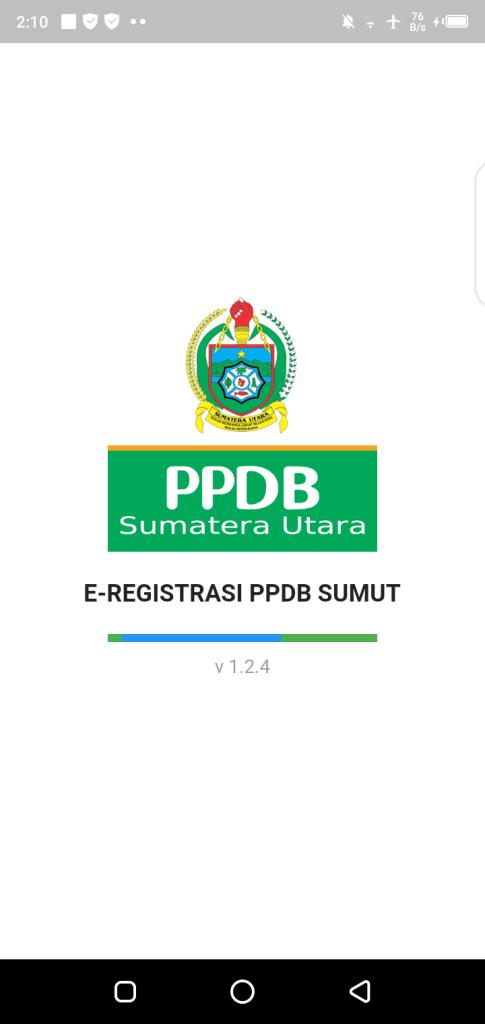 Screenshot of PPDB.disdik.sumutprov.go.id 2020