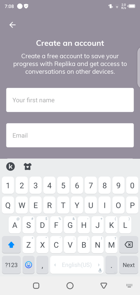 Screenshot of Replika Pro For Android