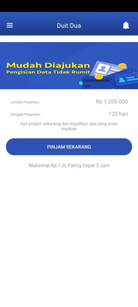 Screenshot of Duit Dua App Apk