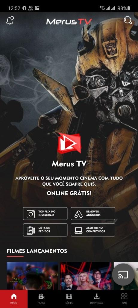 Screenshot of Merus TV Apk