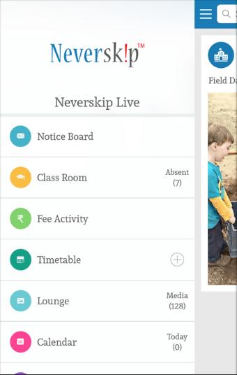 Screenshot of Neverskip Parent Portal App