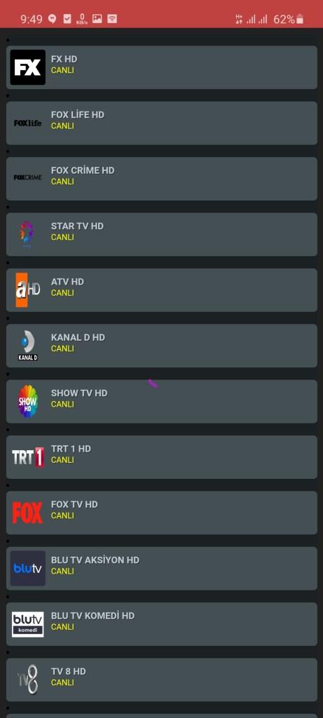 Sceenshot of NeTV Gold App