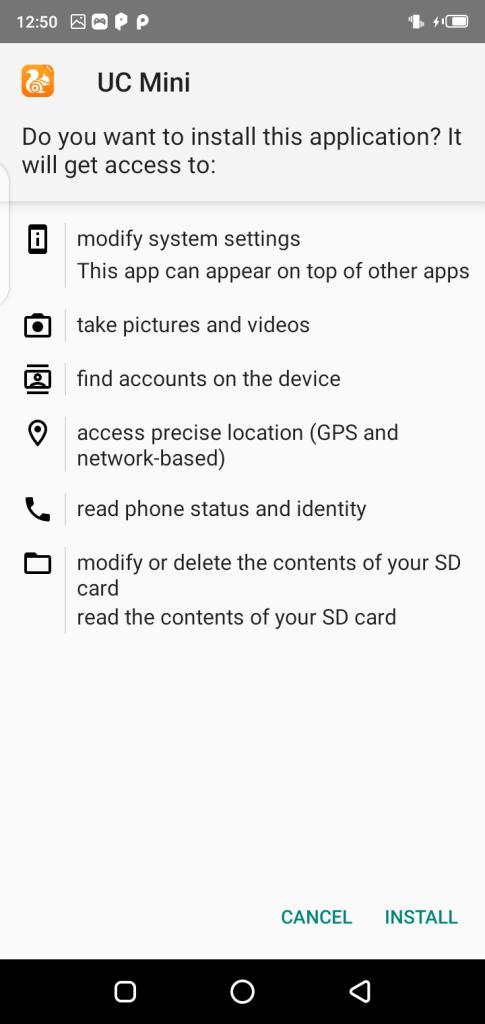 Screenshot Of UC Handler