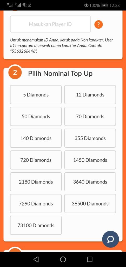 Screenshot of Diamond FF Gratis 10000 App