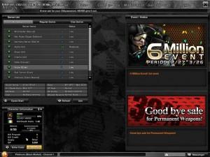 Schermata dei Server