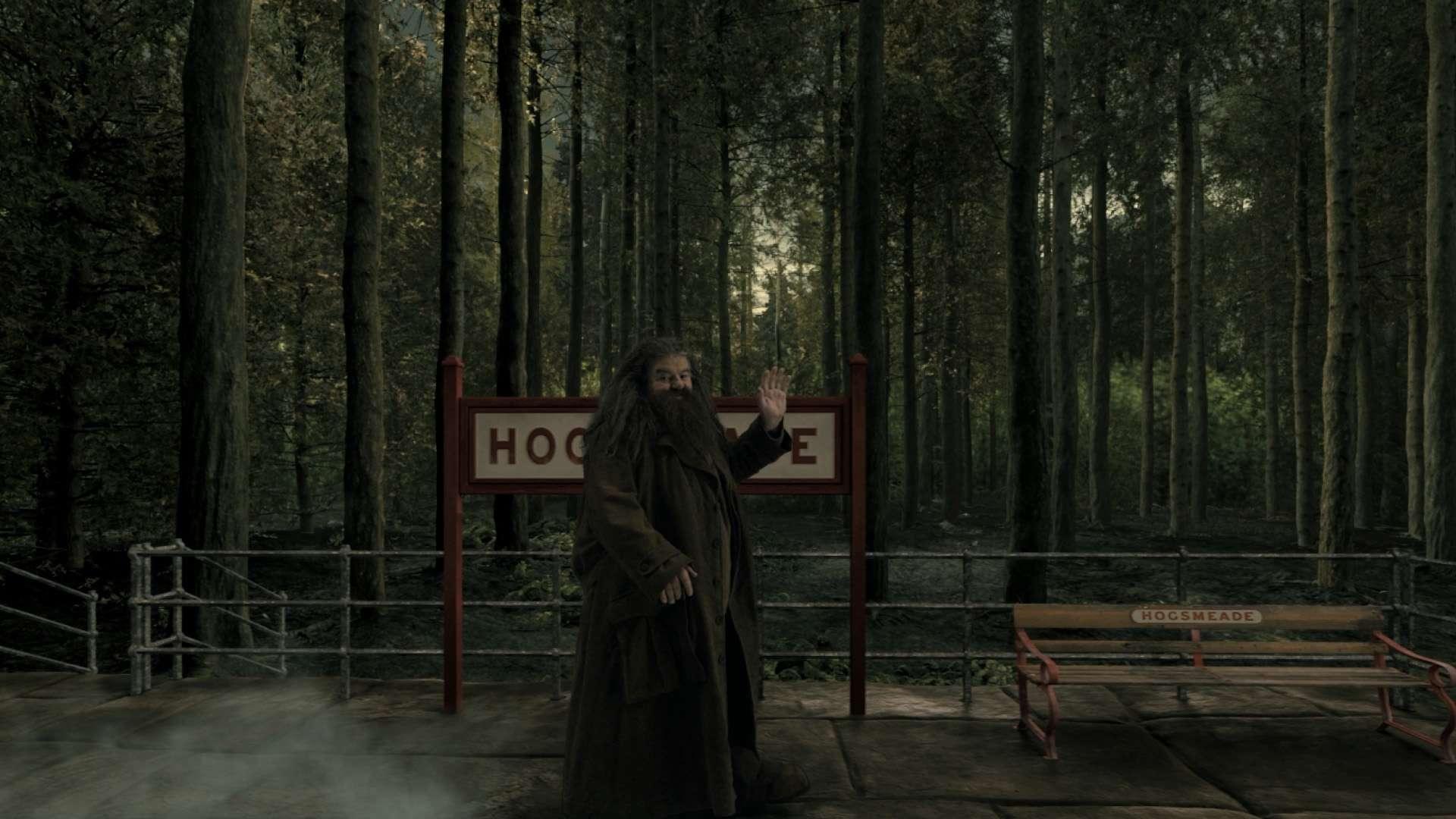 Hagrid at Hogsmeade Station