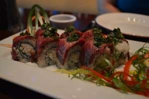 Surf and Turf sushi roll