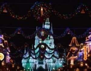 Main Street USA with a view of Cinderella Castle Dream Lights - Orlando Fun and Food
