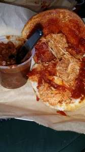 Pulled Chicken, baked beans