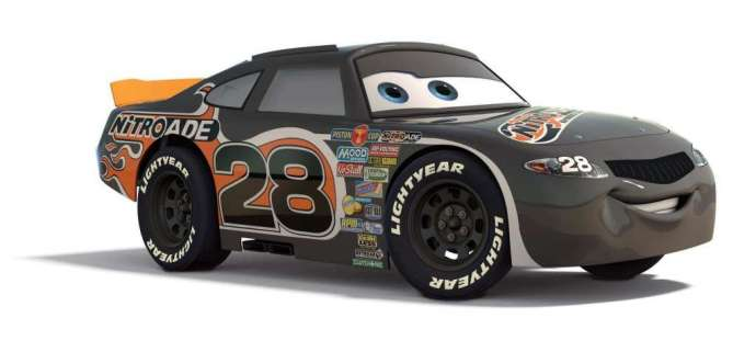 #28 Piston Cup race car soon to be featured at the Richard Petty Driving Experience (photo courtesy of Walt Disney World media)
