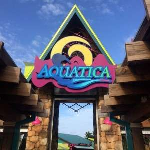 At Aquatica today with !!