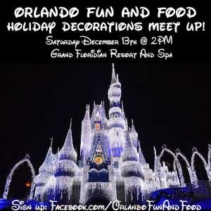 Who is ready for our next meet up We are going to resort hop and check out the Christmas Decorations!! We will meet at 2pm at the Grand Floridian and go from there!! Sign up and share with all your friends! Sign up at Facebook.com/OrlandoFunAndFood