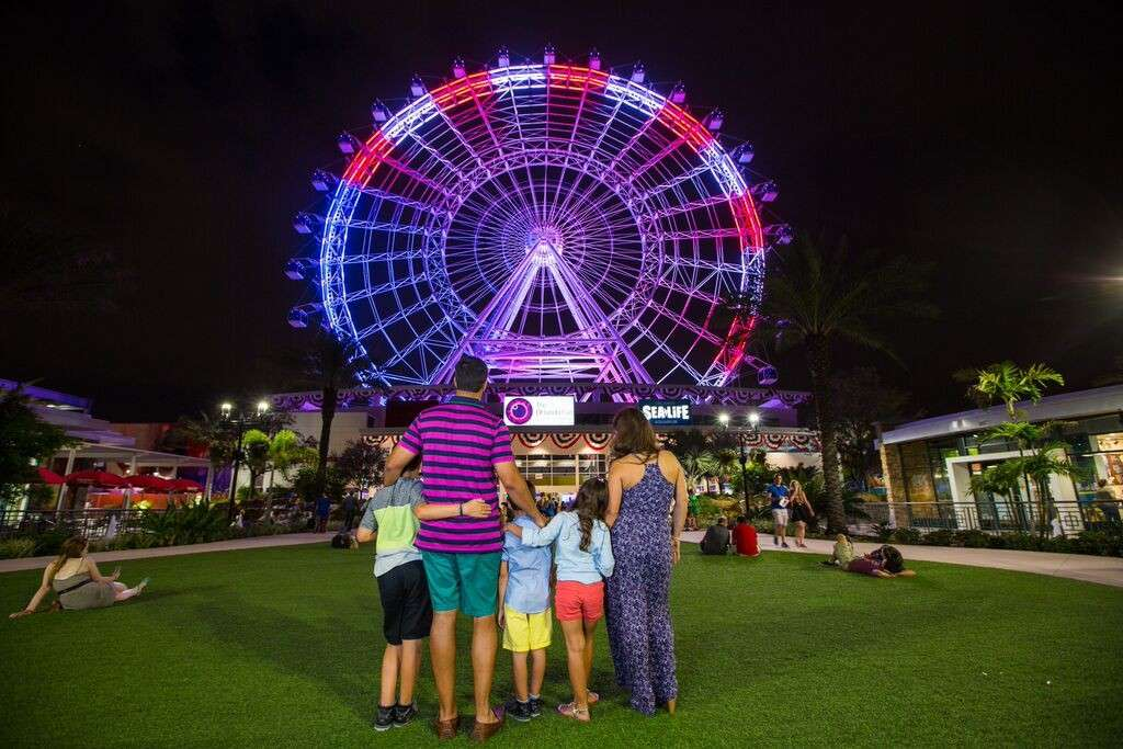 Orlando Eye in Red, White and Blue