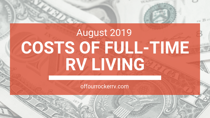 COSTS OF FULL-TIME RV LIVING_ AUGUST 2019