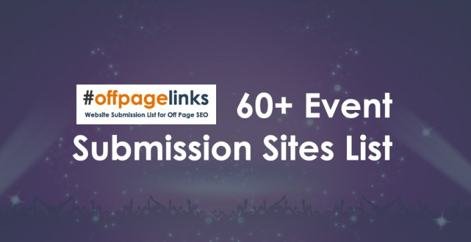 Event Submission Sites List