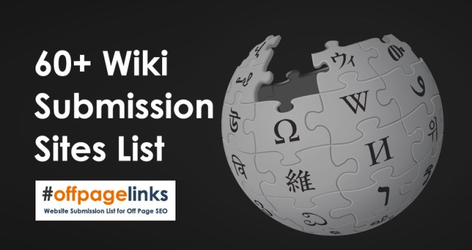 Wiki Submission Sites List