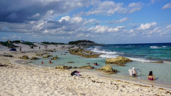 The tide pool at one of the best beaches in Cozumel, Playa Chen Rio