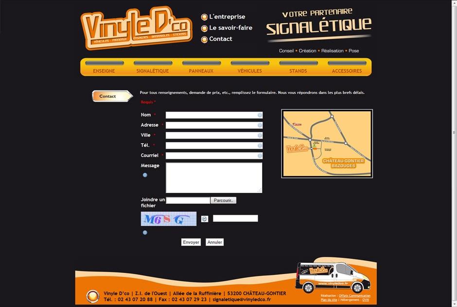 Vinyle D'co - Contact et plan