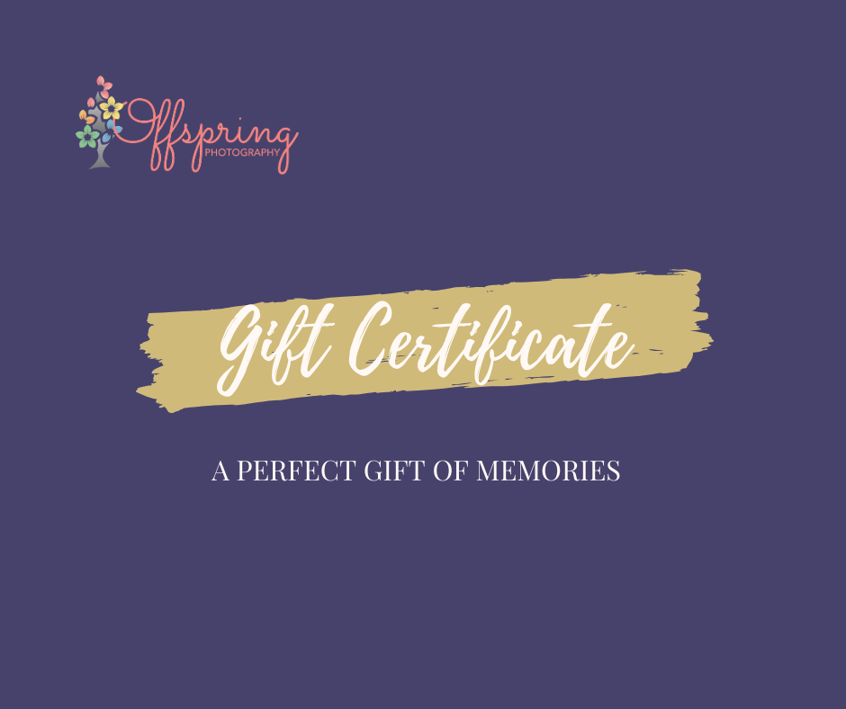 Offspring Photography gift certificate