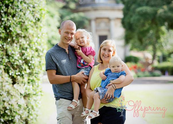 family in Jephson Gardens